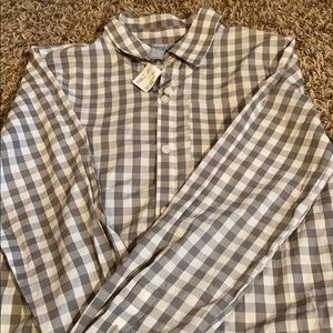 Gingham long sleeve button down